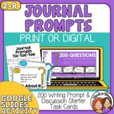 Writing Prompts: 200 Question Cards for  Discussion and Journals