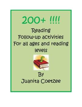200+ Reading Follow-up activities