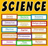 200 SCIENCE FLASHCARDS - DISPLAY KEY WORDS BIOLOGY PHYSICS CHEMISTRY
