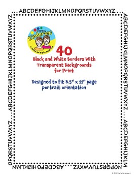 200 Scribble Decorative Borders and PowerPoint Backgrounds