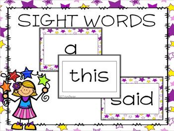 200 Sight Word Cards (Editable)