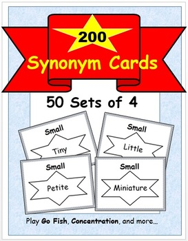 200 Synonym Cards