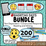 200 Text Dependent Reading Passages & Writing Prompts Bundle / Google Classroom