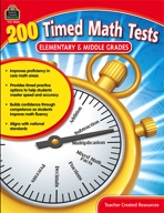 200 Timed Math Tests: Elementary to Middle Grades (enhanced ebook)
