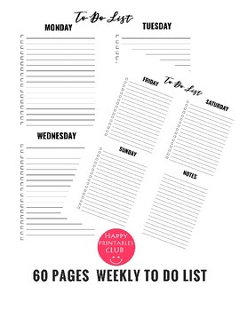 picture regarding Printable to Do List Pdf known as 200 + In direction of Do Record Printable PDF Offer for Lecturers