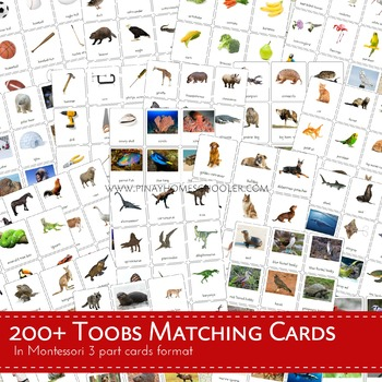 MontessoriLove 200+ Toobs Matching Cards Bundle Pack