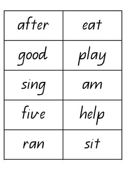 200 Word Sight Word Game Cards