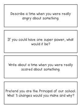 Writing Prompts {200!} for Literacy Centers, Writing Centers and Journals!