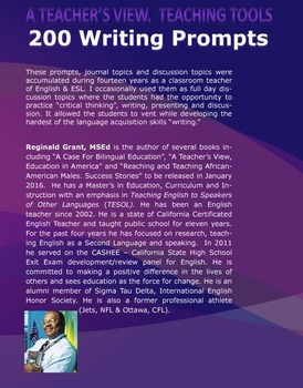 """200 Writing Prompts """" Develop Critical Thinking and Writing Skills"""