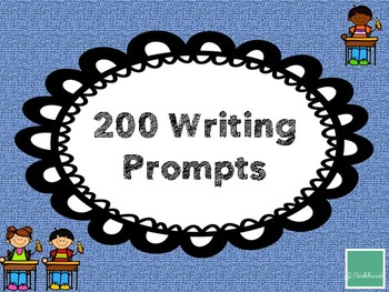 200 Writing Prompts for Elementary Students- FREEBIE
