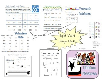 Sight Word Games and Activities Mega Pack