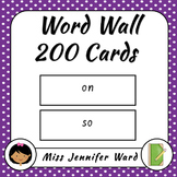 200 Word Wall Cards