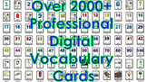 2000 + Digital Vocabulary Picture Flash Cards