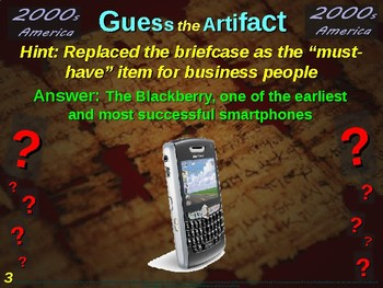 "2000s America ""Guess the artifact"" game: fun, engaging (pictures & clues)"