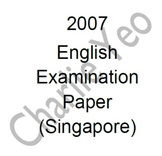 2007 Primary 1 English Examination Papers - Top Primary Schools in Singapore