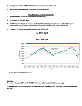 2008 Economic Crash- Causes of 2008 Crash DBQ and notes page