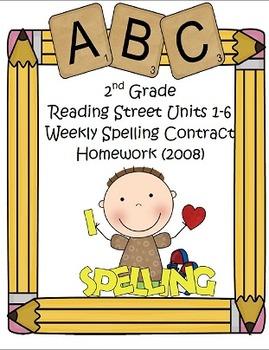 2008 Reading Street 2nd Grade Differentiated Spelling Homework Bundle (Editable)