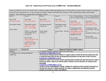 2008 Responding to AP Prompt