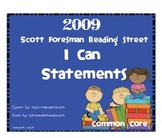 """2009 Common Core """"I Can"""" Reference Pages and Cards Units 1-5 1st Gr. Rdg St."""