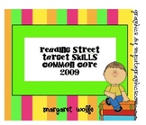 2009 Common Core Reading Street Target Skills Units 1-5 GRADE 1