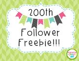 200th Follower Freebie!!