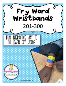 201-300 Sight Word Wristbands