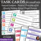 201 Art Task Cards for Visual Art and Poster set