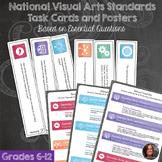 *National Visual Arts Standards & Visual Arts Task Cards - 201 Cards Bundle