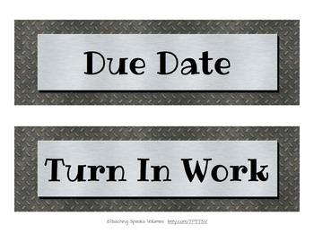 201 Metallic Classroom Signs