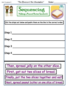 2010 Edition Imagine It Grade 2 Unit 1 Lesson 3 The Elves and the Shoemaker Pack