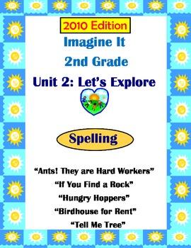 2010 Edition Imagine It Grade 2 Unit 2 Let's Explore Spelling Activities