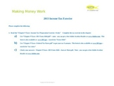 2013 Income Tax (PowerPoint slide instructions)