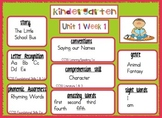2011 Kindergarten Reading Street Target Skills Units 1-6