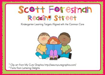 2011 Kindergarten Reading Street Unit 4 Target Skills