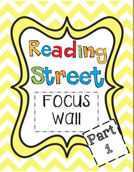 2011 and 2013  Kindergarten Reading Street Common Core Focus Wall  (Units 1-6!)
