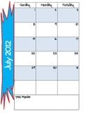 2012-2013 Holiday & Season Theme Teacher Planner/Calendar