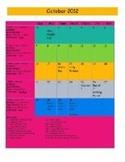 2012-2013 Long Range Calendar