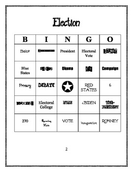 2012 Election Bingo