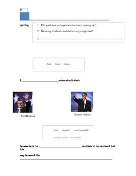 2012 Election Opinion Essay Organzaer