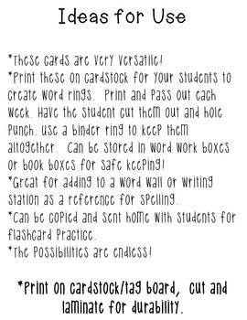 2012 Journeys Grade 3 Vocabulary Word Cards