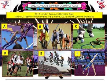 2012 - London Olympics Quiz (Sports Quiz) - 7 rounds and 40+Qs' .Autumn Quiz
