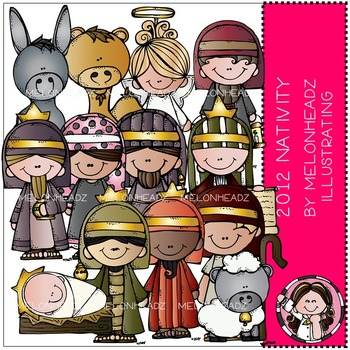 Melonheadz: Nativity clip art - 2012 - COMBO PACK