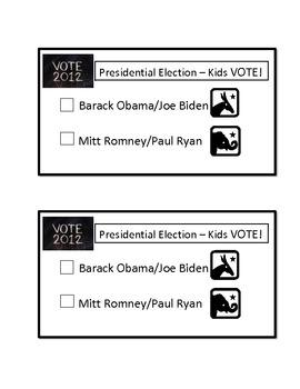 2012 Presidential Election Ballot