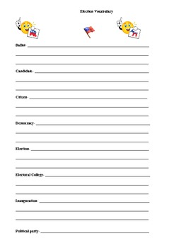 2012 Presidential Election Vocabulary and Candidate Research