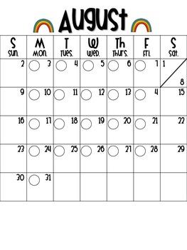 2015-16 Behavior Calendar