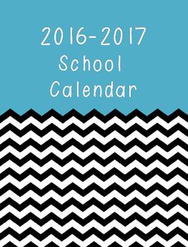 2016-17 Monthly School Calendar