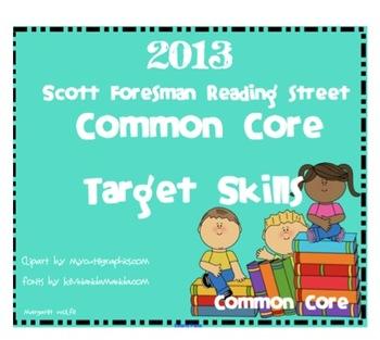 2013 1st Grade Reading Street Target Skills Units 1-5