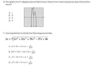 2013-2014 Algebra II End of Course Exam