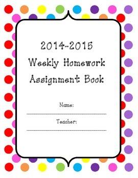 2014-2015 Assignment Book