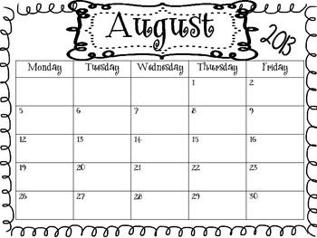 2013-2014 Blank School Calendars